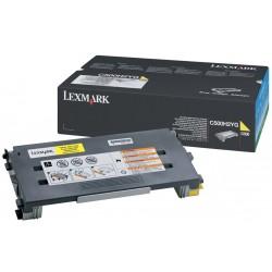 LEXMARK Toner High Yellow C500H2YG