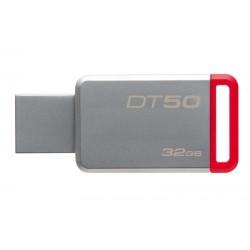 KINGSTON USB Stick Data Traveler 50, DT50/32GB, USB 3.1, Silver/Red
