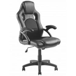 BRATECK Καρέκλα γραφείου, ρυθμιζόμενη, με υποβραχιόνια, Μαύρη