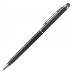 Ballpoint στυλό με επίστρωμα για οθόνη αφής και clip τσέπης, μαύρο