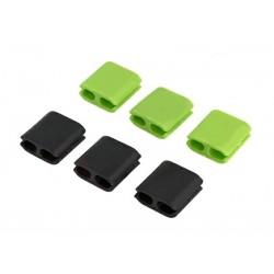 Οργανωτής καλωδίων σιλικόνης ACC-217, μαύρο-πράσινο