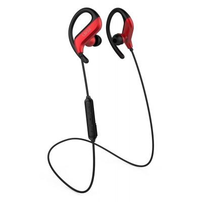 UIISII Earphones BT100-RD, Bluetooth 5.0, 10mm, 105dB, κόκκινα