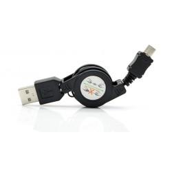 POWERTECH Καλώδιο USB σε USB Micro, πτυσσόμενο, 0.70m, μαύρο