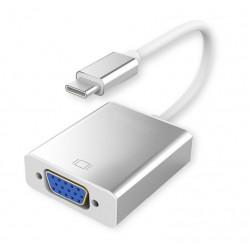POWERTECH Converter USB 3.1 Type C σε VGA 15pin, Gray