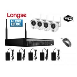 LONGSE WiFi Smart Kit CS200W, 2MP, 4 Cameras με 3 Sensors, TVI