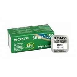 SONY Μπαταρία λιθίου για ρολόγια SR1130, 1.55V, No389/390, 10τμχ