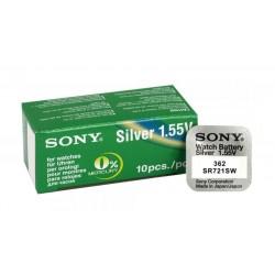 SONY Μπαταρία λιθίου για ρολόγια SR721SW, 1.55V, No362, 10τμχ