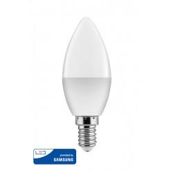 POWERTECH LED Λάμπα Candle 5W, Warm White 3000K, E14, Samsung LED, IC