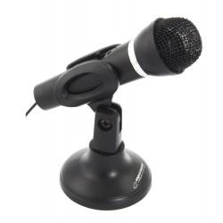 ESPERANZA Μικρόφωνο Sing EH180 με βάση & διακόπτη ON/OFF, 3.5mm, μαύρο