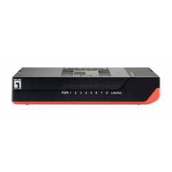 LEVELONE GbE Switch GSW-0807, 8-port 10/100/1000Mbps, Jumbo 9K, Ver. 5.0