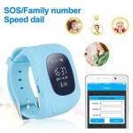 INTIME GPS Παιδικό ρολόι χειρός IT-023, SOS, βηματομετρητής, σκούρο μπλε
