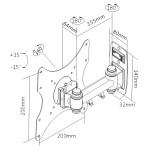 """BRATECK επιτοίχια βάση LCD-152A, για οθόνη 23-42"""", 20kg"""