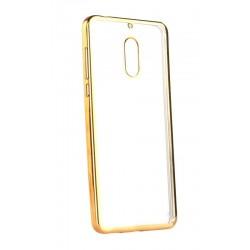 POWERTECH Θήκη Metal TPU για Nokia 6, Gold