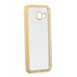 POWERTECH Θήκη Metal TPU για Samsung A3 2017, Gold