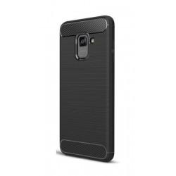 POWERTECH Θήκη Carbon Flex για Samsung Galaxy A8 2018, μαύρη