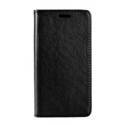 POWERTECH Θήκη Leather magnet για Samsung A6 Plus 2018, μαύρη