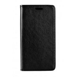 POWERTECH Θήκη Leather magnet για Samsung A8 Plus 2018, μαύρη