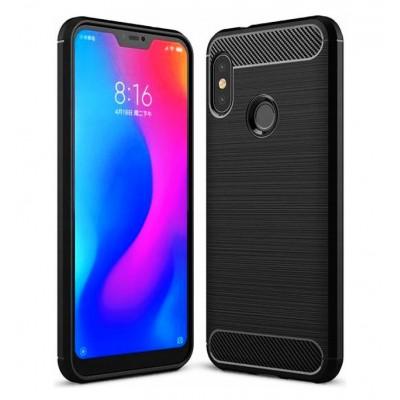 POWERTECH Θήκη Carbon Flexible, Xiaomi Mi A2 Lite/Redmi 6 Pro, μαύρη