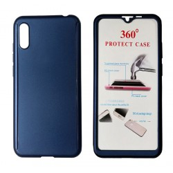 POWERTECH Θήκη Body 360° Tempered Glass, Huawei Y5 2019/Honor 8S, μπλε