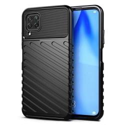 POWERTECH Θήκη Carbon MOB-1496 για Huawei P40 Lite, μαύρη
