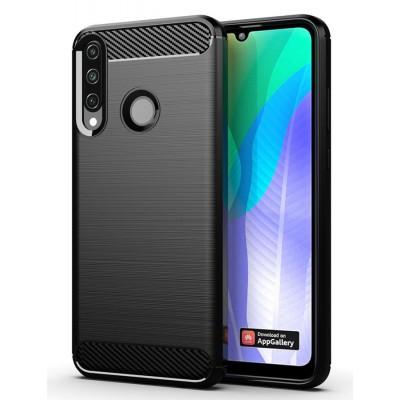 POWERTECH Θήκη Carbon Flex MOB-1524, Huawei Y6p, μαύρη