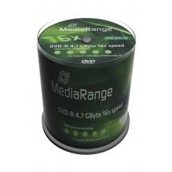 MEDIA RANGE DVD-R, 4.7GB, 16x, 100τμχ Cake box