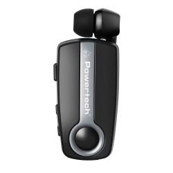 POWERTECH Bluetooth headset Klipp PT-733, multipoint, BT V4.1, ασημί