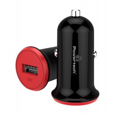 POWERTECH Φορτιστής Αυτοκινήτου PT-763, 1x USB, 1A, μαύρος