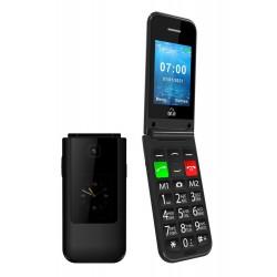 POWERTECH Κινητό Τηλέφωνο Sentry Dual II, 2 οθόνες, SOS Call, μαύρο