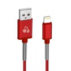 POWERTECH Καλώδιο USB σε Lightning flex alu PTR-0021 copper, 1m, κόκκινο