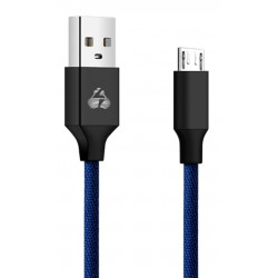POWERTECH Καλώδιο USB σε Micro USB eco small PTR-0047 copper, 1m, μπλέ