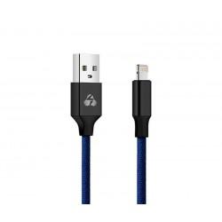 POWERTECH Καλώδιο USB σε Lightning eco small PTR-0050 copper, 1m, μπλέ