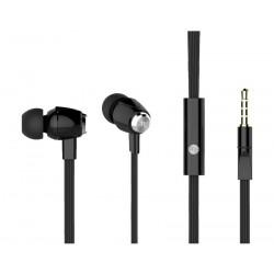 CELEBRAT Earphones με μικρόφωνο S-30, on/off, 10mm, 1.2m flat, μαύρα
