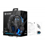 SADES Gaming Headset Element SA-702-BL, blue LED, 3.5mm, 40mm ακουστικά