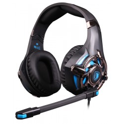 SADES gaming headset SA-822, 3.5mm, 50mm, μαύρο