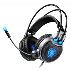 SADES gaming headset SA-R1, USB, 50mm, 7.1CH, LED, μαύρο