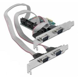 POWERTECH κάρτα επέκτασης PCIe σε 4x Serial DB9 SLOT-031, Chipset CH384L