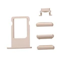 Πλαϊνά πλήκτρα και Βάση Sim για iPhone 7, Gold