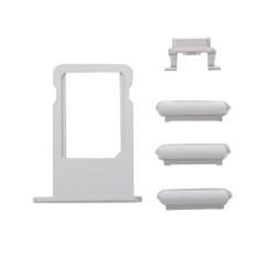 Πλαϊνά πλήκτρα και Βάση Sim για iPhone 7 Plus, Silver
