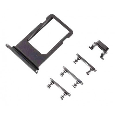Υποδοχή κάρτας SIM και Side Button για iPhone 8, μαύρο