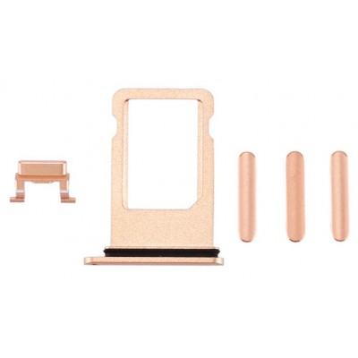 Υποδοχή κάρτας SIM και Side Button για iPhone 8, χρυσό