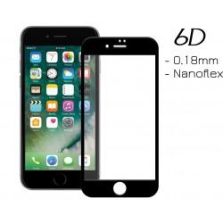 POWERTECH Tempered Glass 6D 0.18MM, Flex, Full Glue, iPhone 7 & 8, Black