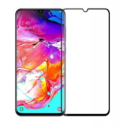 POWERTECH Tempered Glass 5D, Full Glue, Samsung A70 SM-A705F, μαύρο