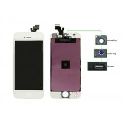 TIANMA High Copy LCD iPhone 5G, Camera-Sensor ring, ear mesh, White