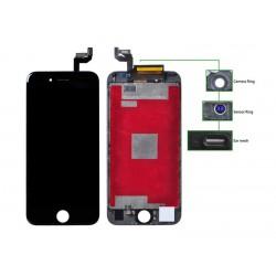 TIANMA High Copy LCD iPhone 6S, Camera-Sensor ring, ear mesh, Black