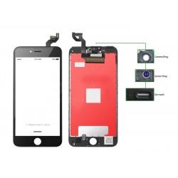 TIANMA High Copy LCD iPhone 6S Plus, Camera-Sensor ring, ear mesh, Black