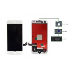 TIANMA High Copy LCD iPhone 7G, Camera-Sensor ring, ear mesh, White
