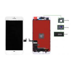 TIANMA High Copy LCD iPhone 7 Plus, Camera-Sensor ring, ear mesh, White