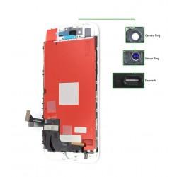 TIANMA High Copy LCD iPhone 8G, Camera-Sensor ring, ear mesh, White