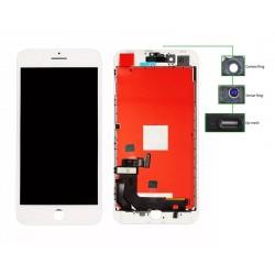 TIANMA High Copy LCD iPhone 8 Plus, Camera-Sensor ring, ear mesh, White